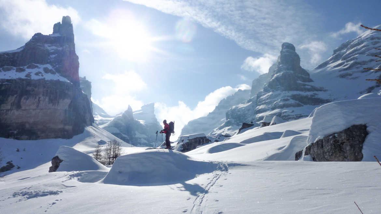 Dolomiten Skidurquerung in 6 Tagen – mit Staatl. gepr. Bergführer